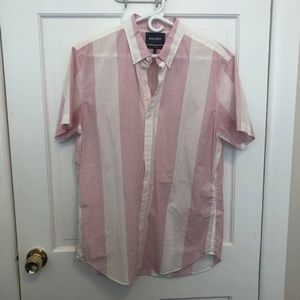BONOBOS Pink and White Short Sleeve